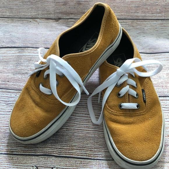 Vans Pigskin Suede Tan Sneakers W7 M 55